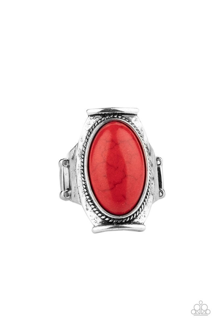 Paparazzi Accessories Desert Healer - Red Rings