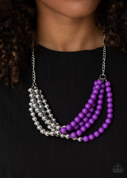 Layer After Layer - Purple Necklace