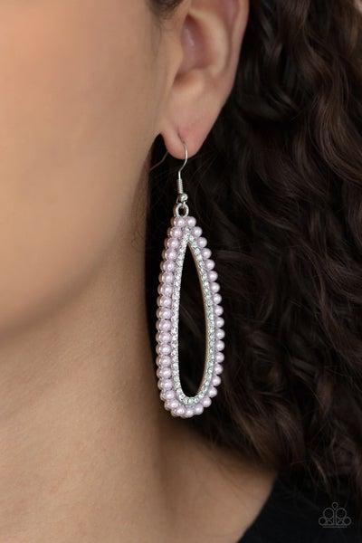 Glamorously Glowing - Pink Earring