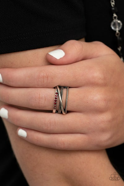 Paparazzi Ring ~ Stay In Your Lane - Red