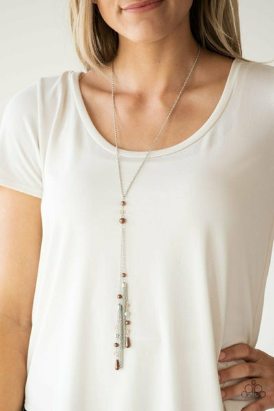 Timeless Tassels Brown  Necklace