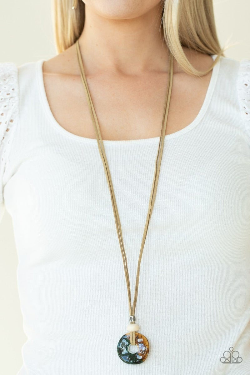 Primal Paradise - Brown Necklace