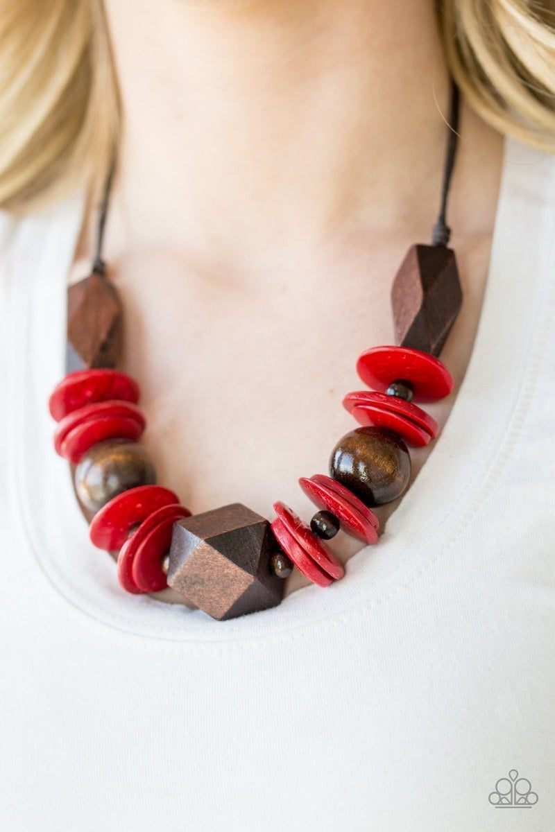 Paparazzi Pacific Paradise Red Necklace