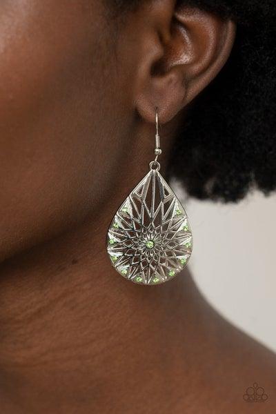 Icy Mosaic - Green Earring
