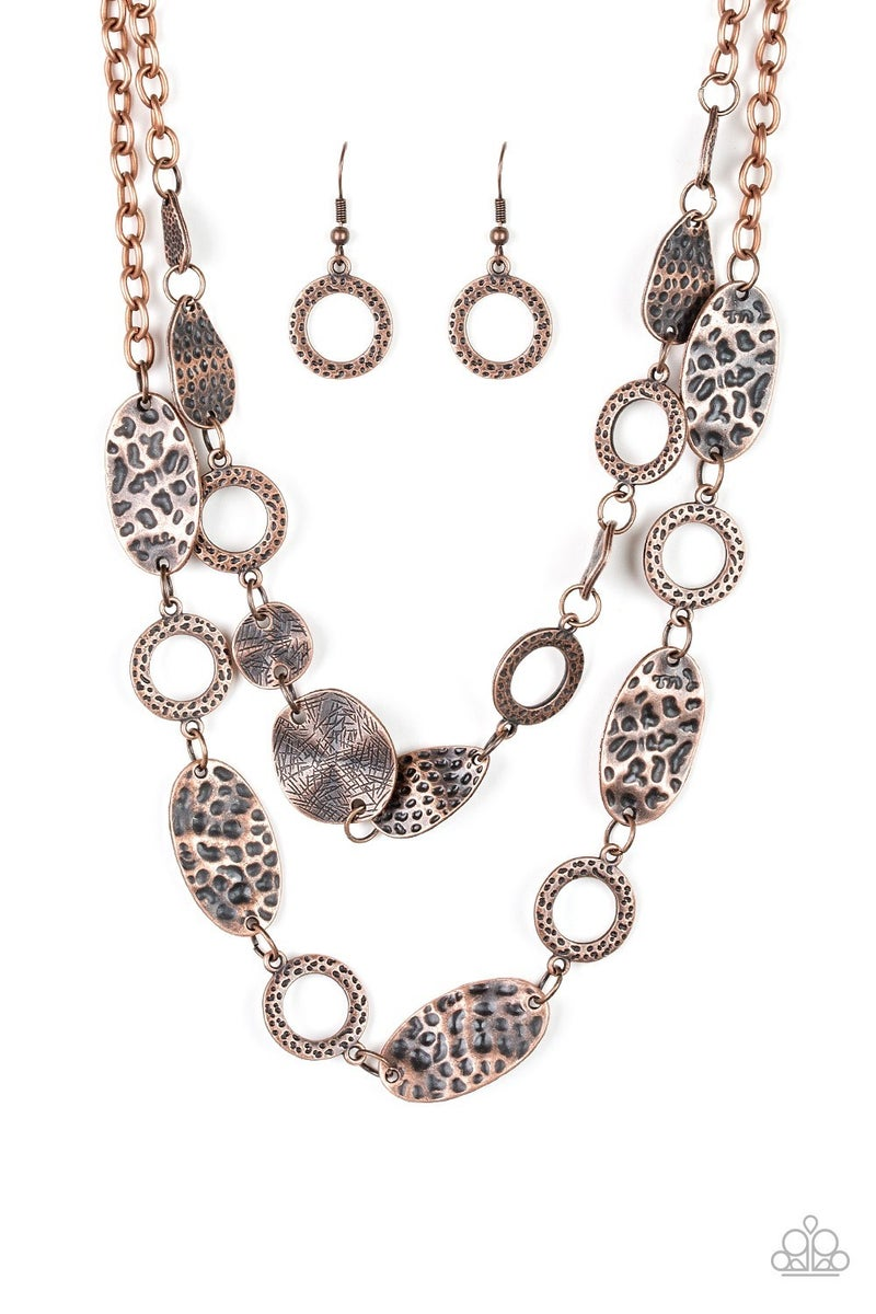 Trippin On Texture - Copper  Necklace set