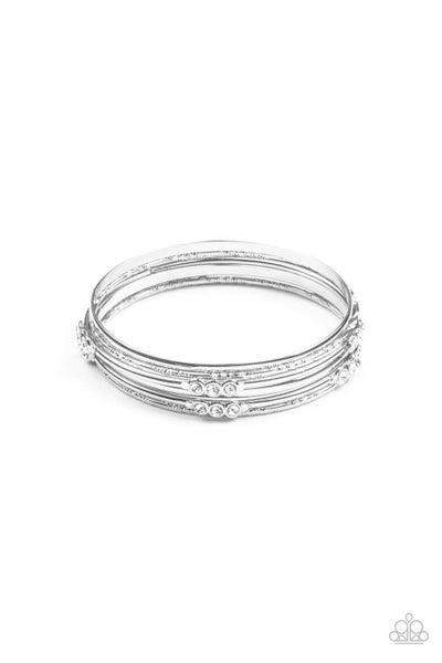 Stackable Sparkle - White Bracelet