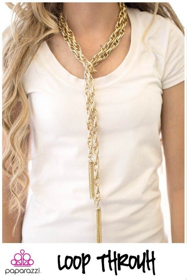 Scarfed For Attention Gold Necklace