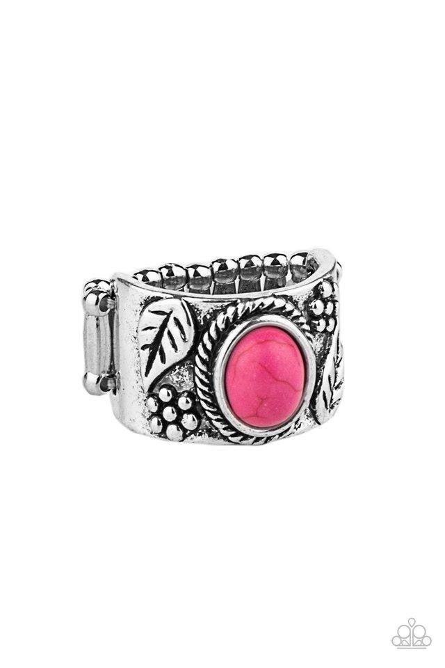 Paparazzi Ring ~ Free-Spirited Fields - Pink