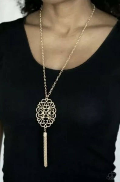 A Mandala Of The People Brass Necklace