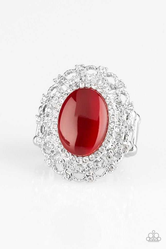 BAROQUE THE SPELL RED MOONSTONE RING