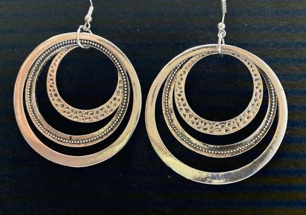 Tempting Texture Silver Earrings