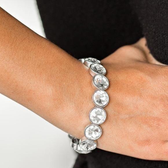 Sugar Coated Sparkle White Bracelet