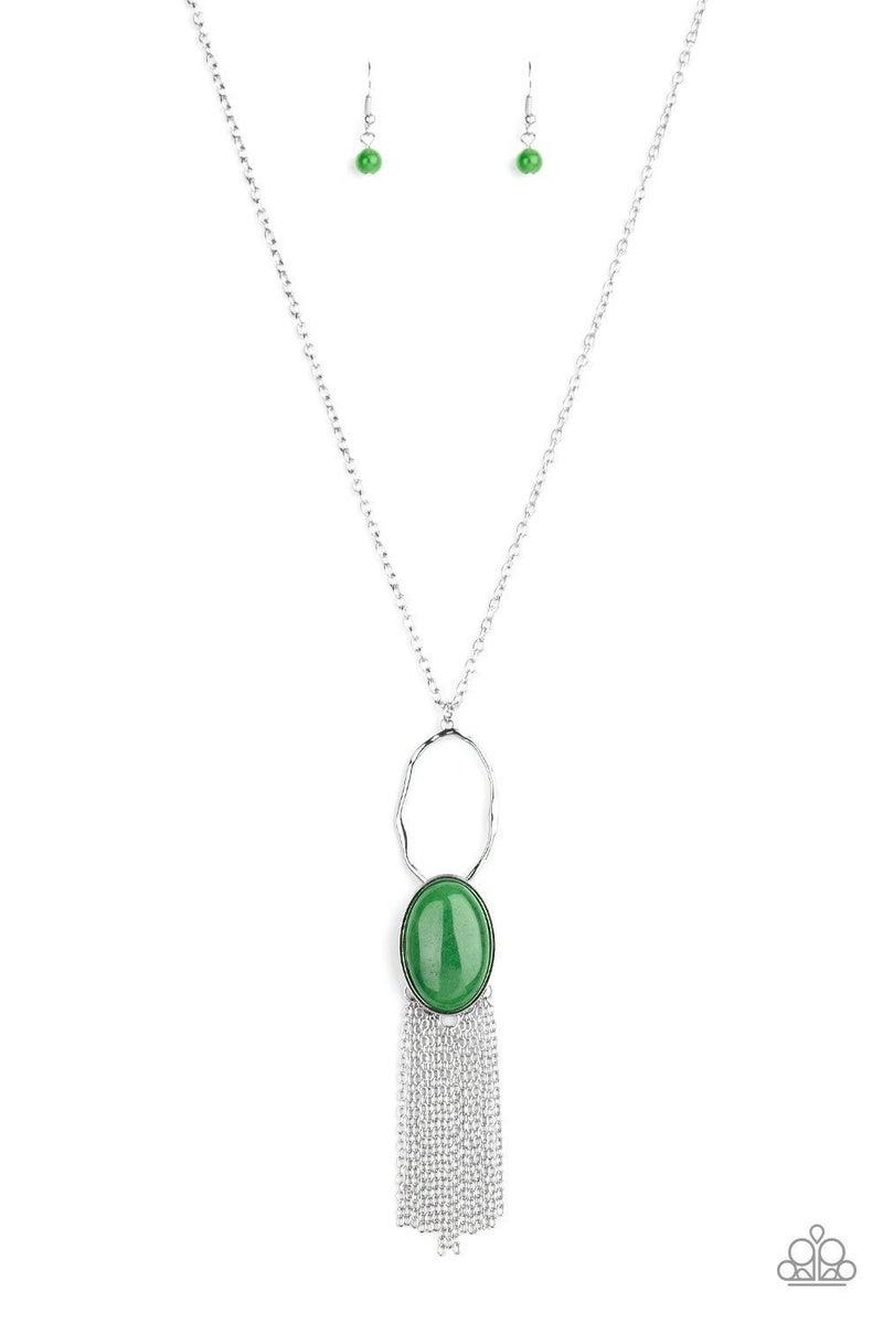 Dewy Desert - Green Necklace