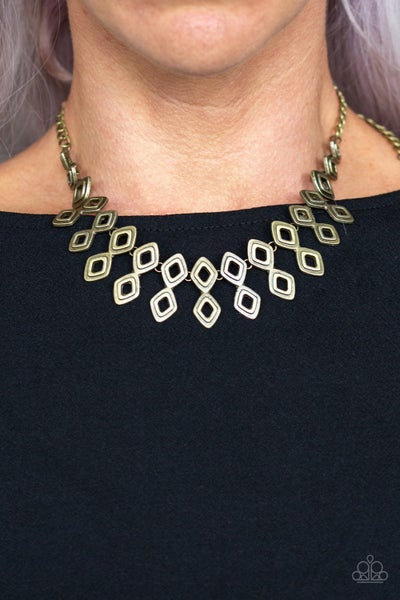 Geocentric - Brass Necklace set