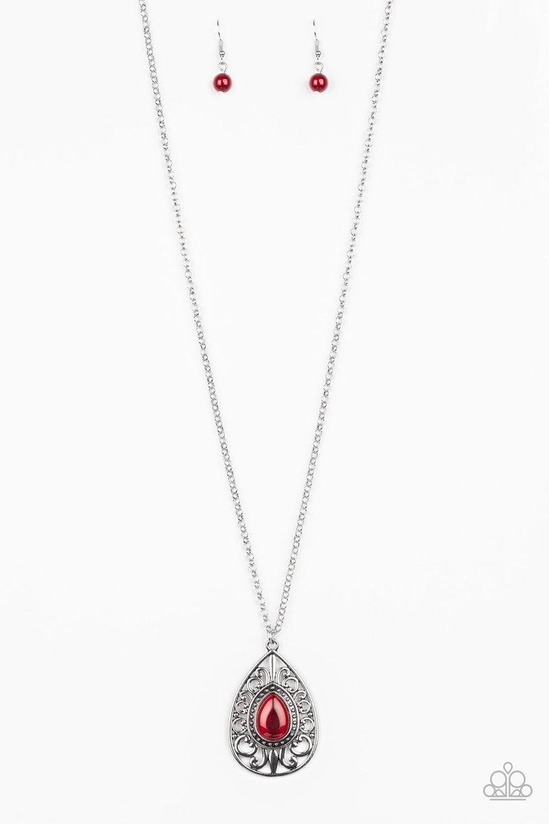Modern Majesty - Red Necklace