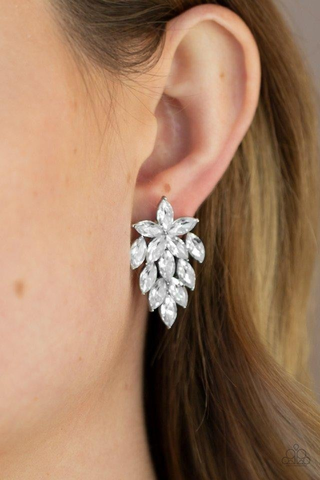 Paparazzi Earring ~ They See Me Glowin - White