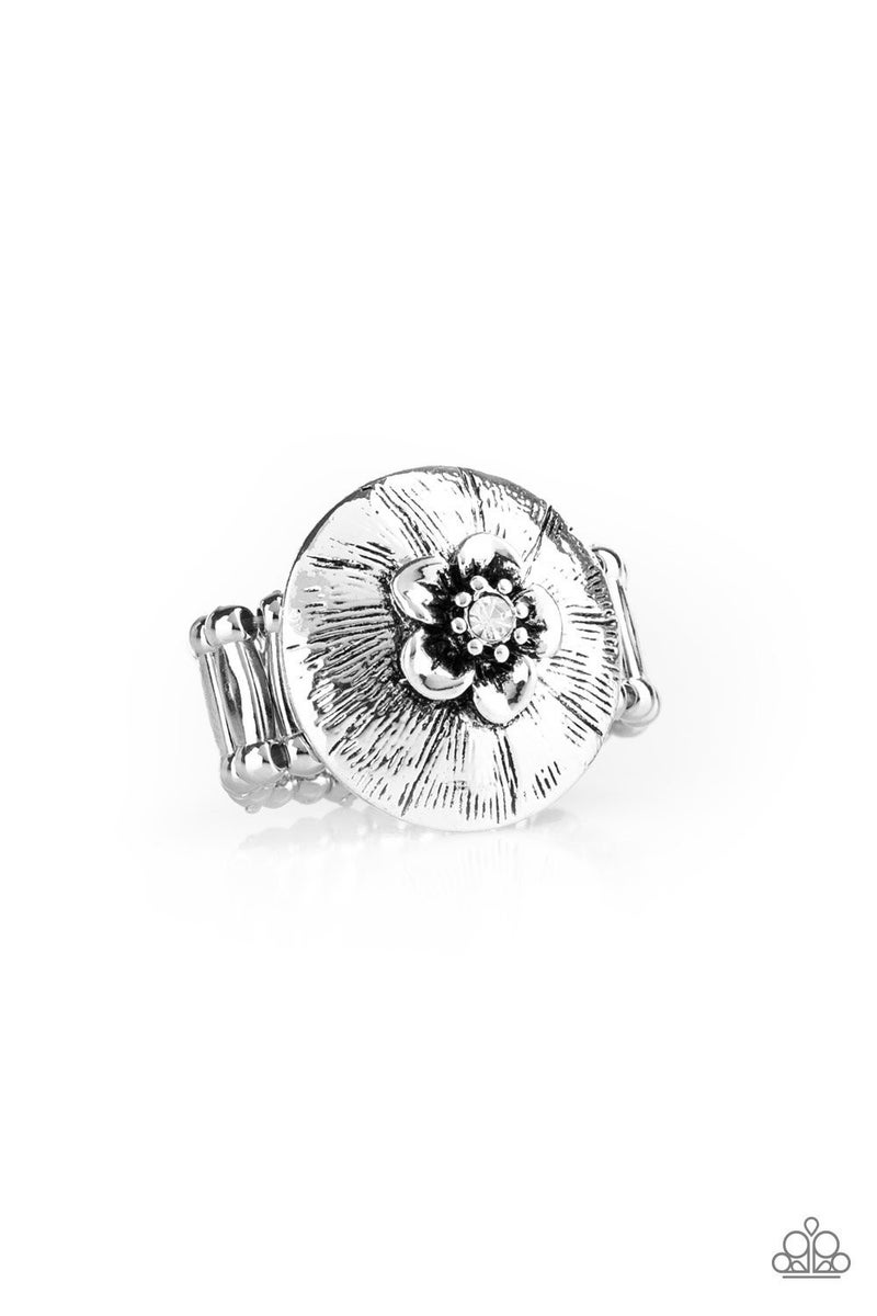 Blooming Beach Party White Ring