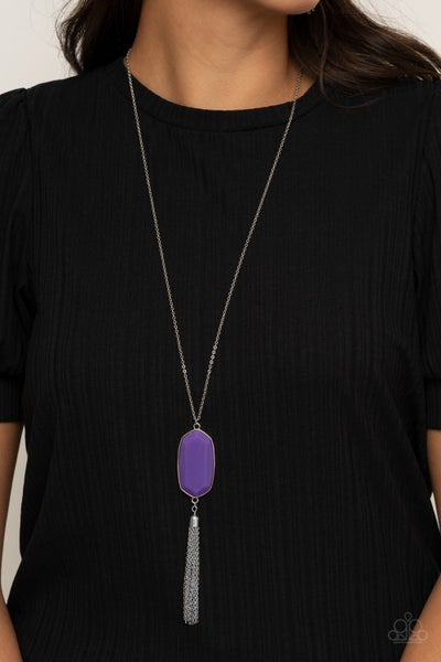 Got A Good Thing GLOWING - Purple Necklace set