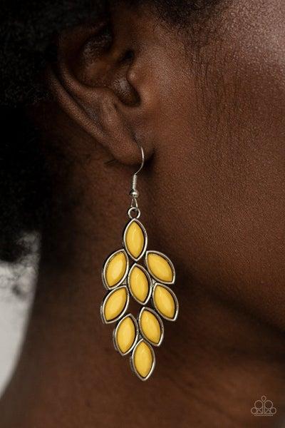 Flamboyant Foliage - Yellow Earring