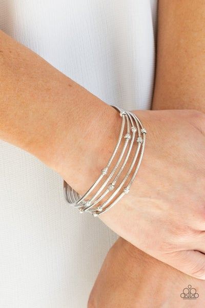 Face The METALLIC Music - Silver Bracelet