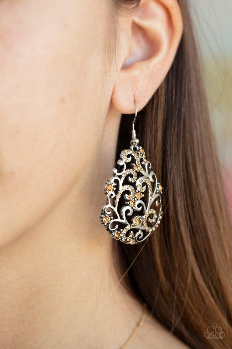Winter Garden - Brown Earring