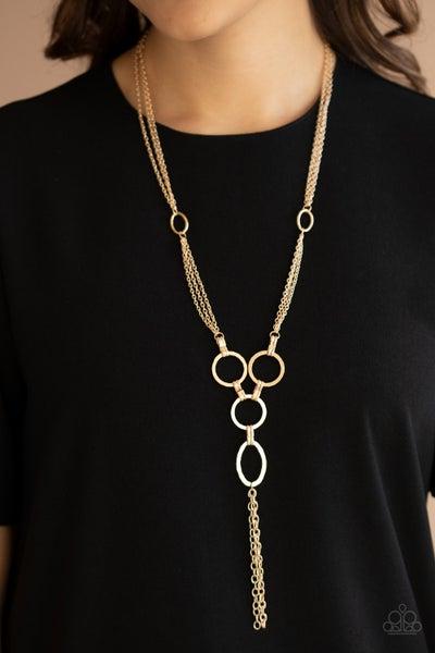 Metro Mechanics - Gold Necklace