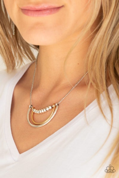 Artificial Arches - Silver Necklace