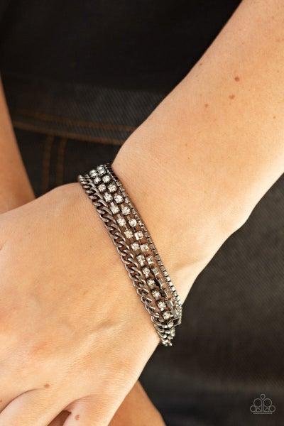 Brilliantly Beaming - Black Bracelet