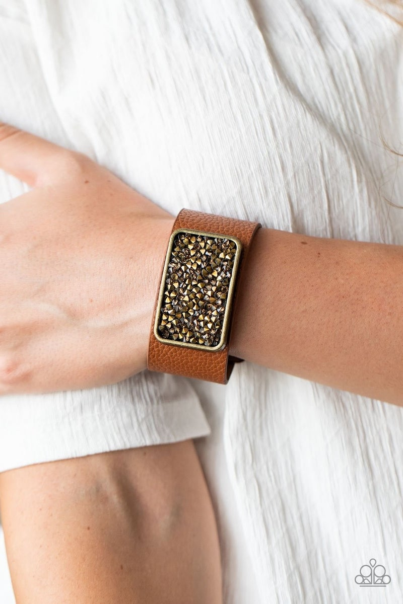 Paparazzi ♥ Interstellar Shimmer - Brass ♥ Bracelet