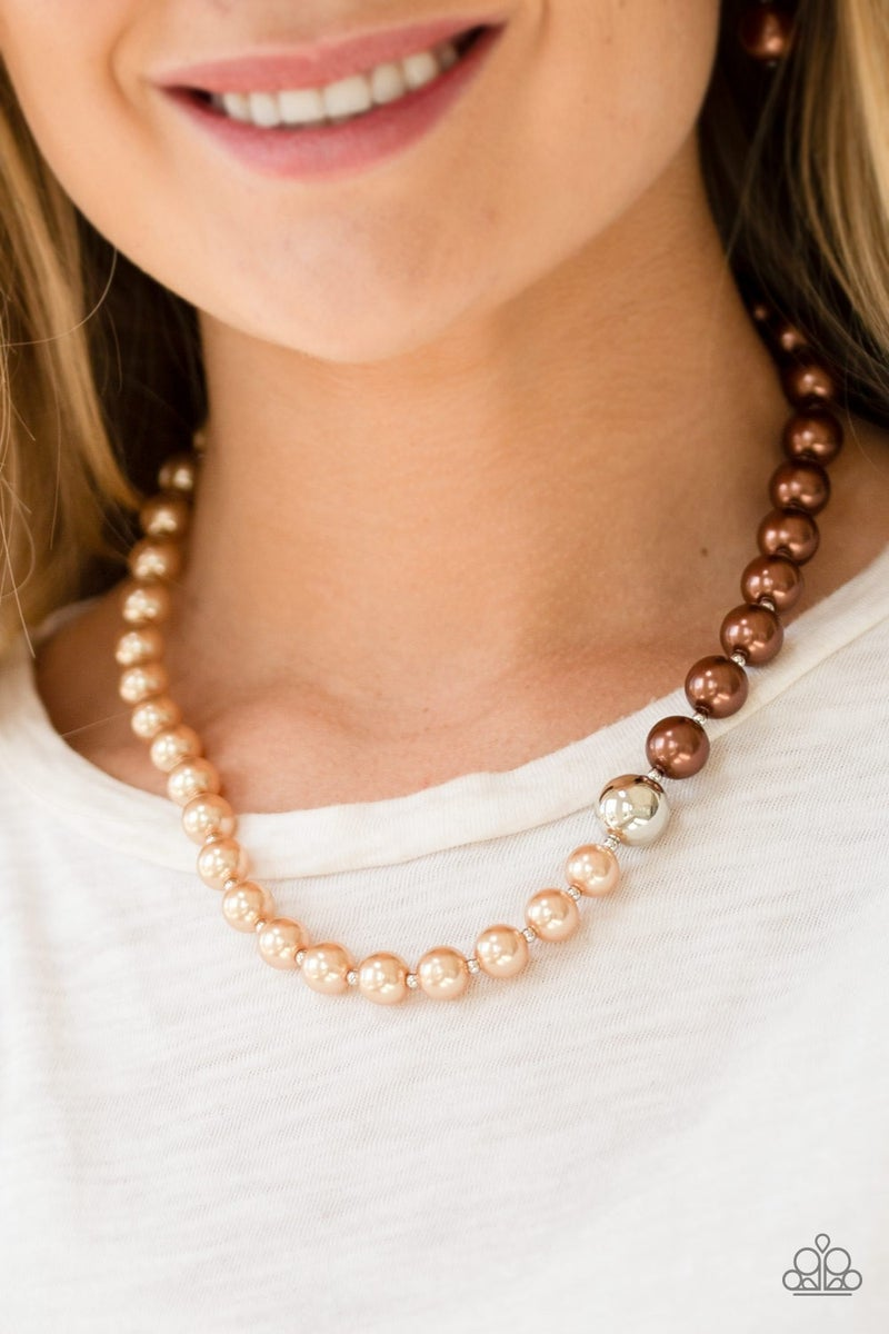 5th Avenue A-Lister - Brown Necklace set