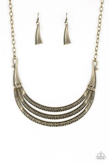 Primal Princess Brass Necklace