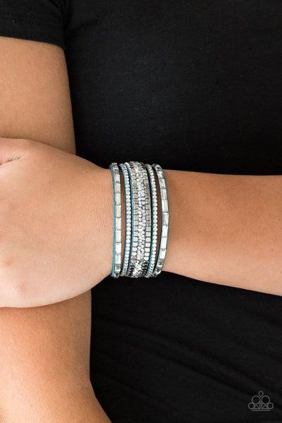 Rebel In Rhinestones - Blue Bracelet