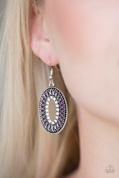 Fishing For Fabulous - Purple Earring