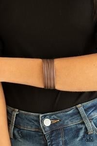 Paparazzi Now Watch Me Stack - Copper - Bracelet