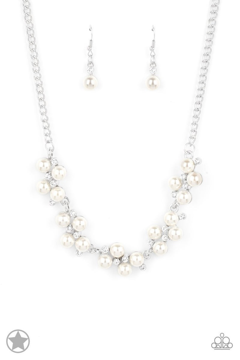 Toast To Perfection - White Necklace