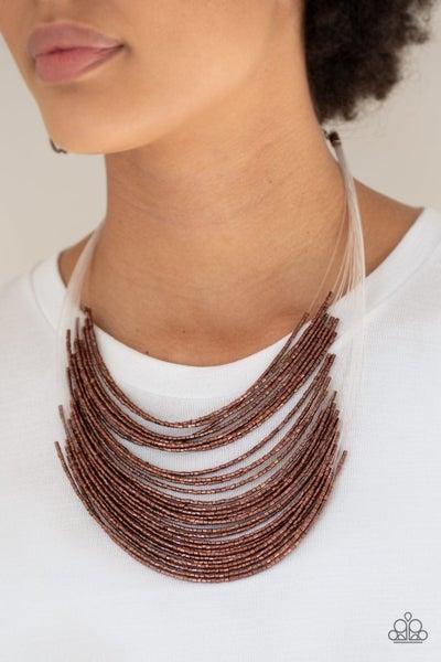Catwalk Queen Copper Necklace