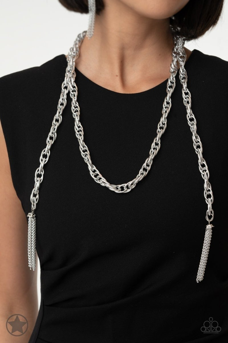 SCARFed for Attention - Silver Necklace