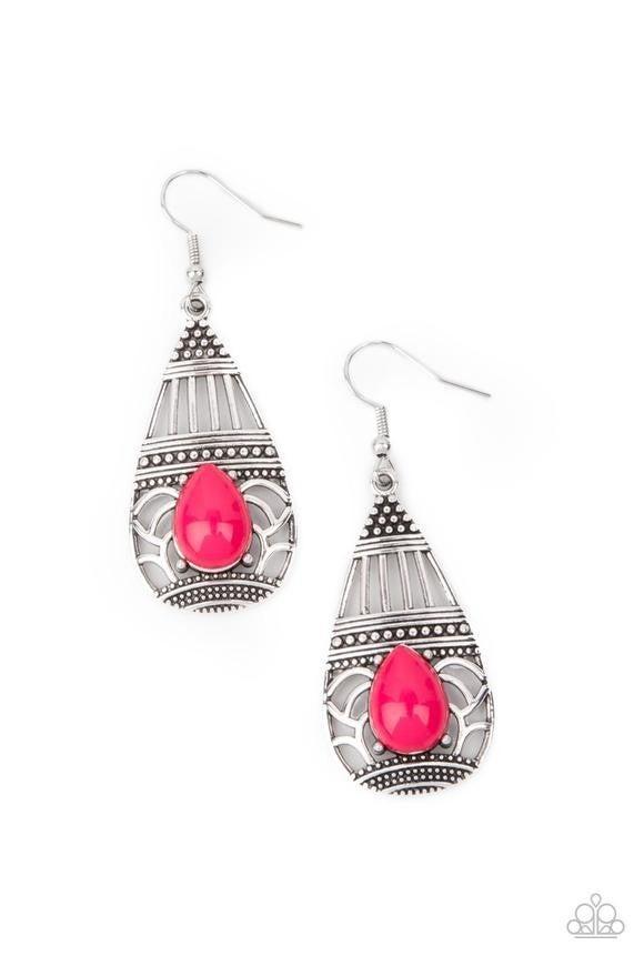 Eastern Essence - pink - Paparazzi earrings