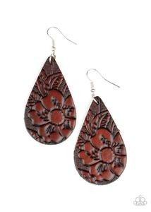 Beach Garden - brown - Paparazzi earrings