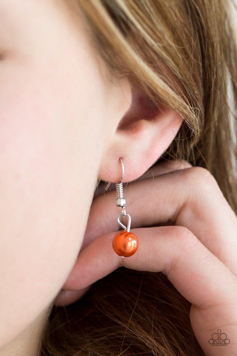Eloquently Eloquent - Orange Necklace set