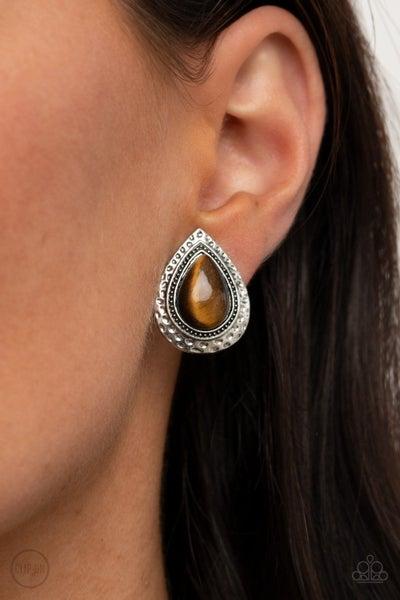 Desert Glow - Brown Earring