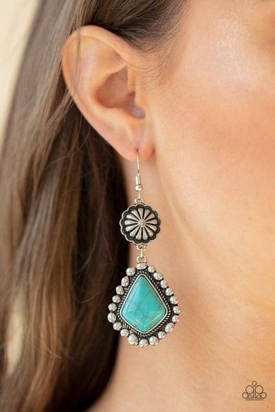 Country Cavalier - Blue Earring
