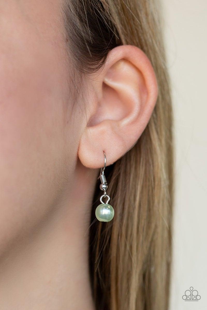Teardrop Serenity - Green Necklace set