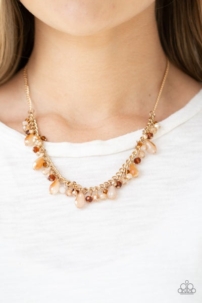 Courageously Catwalk - Gold Necklace set