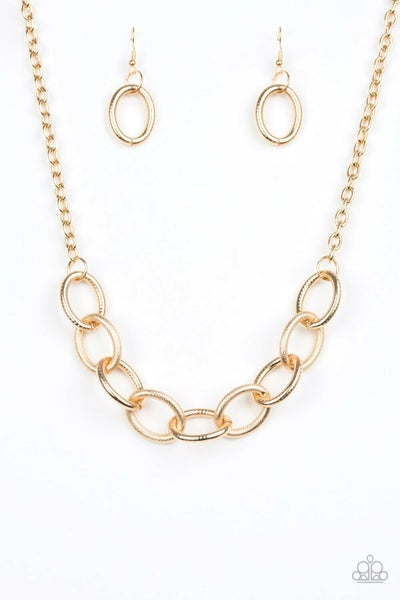 Boldly Bronx  Gold  Necklace Set