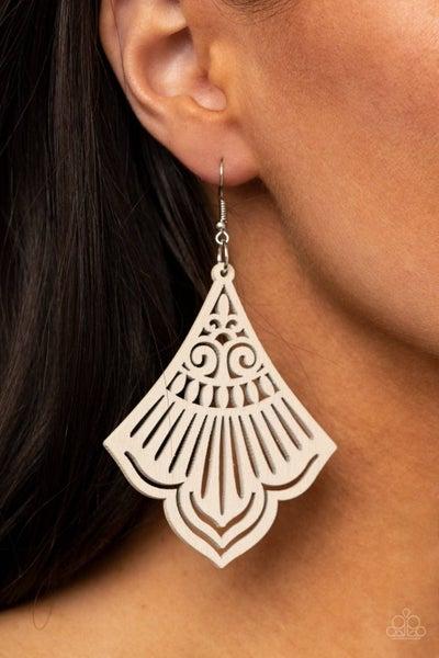 Eastern Escape - White Earring