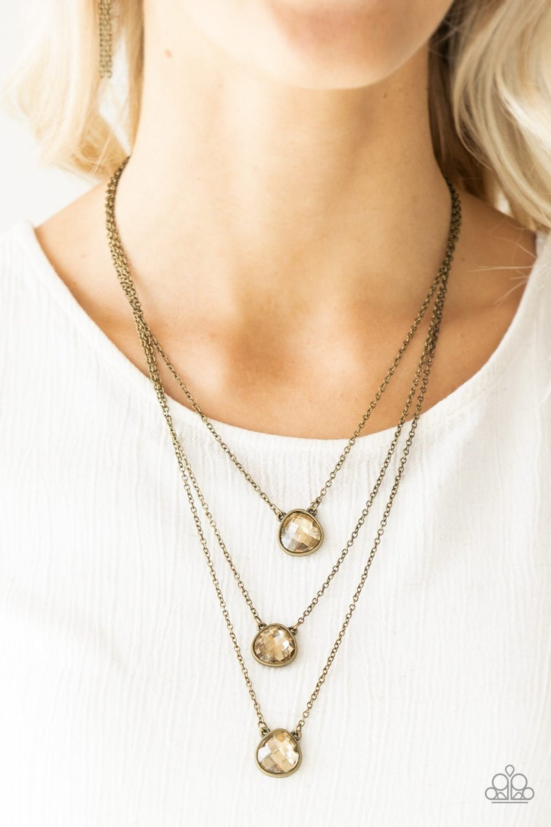 Once In A MILLIONAIRE - Brass Necklace set