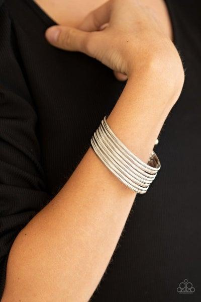 Now Watch Me Stack - Silver Bracelet