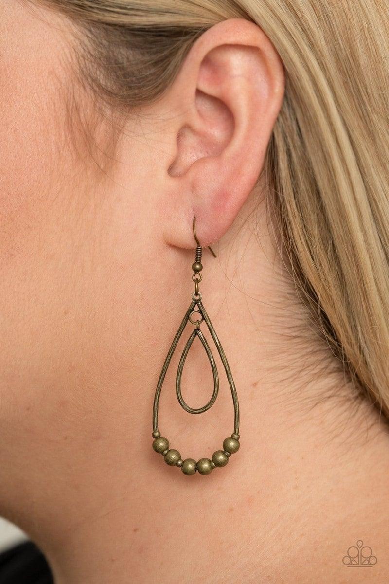 Artisanal Applique - Brass Earring
