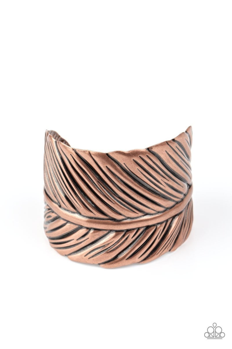 Where There's A QUILL There's A Way - copper - Paparazzi bracelet